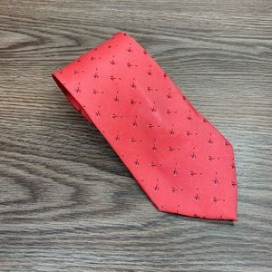Bird Dog Bay Pink w/ Red Fishing Lure Pattern Tie